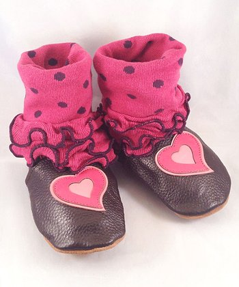 Brown & Pink Heart Boot
