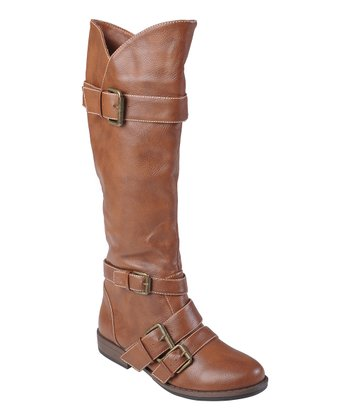 Chestnut Wide-Calf Rachel Boot