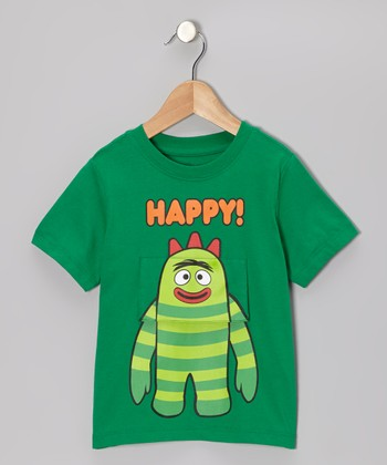 Kelly Green Yo Gabba Gabba! 'Happy!' 'Sad' Flap Tee - Toddler