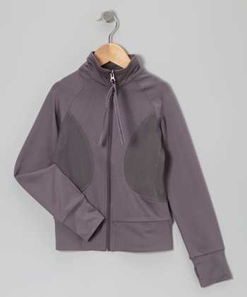 Gray Warm-Up Jacket