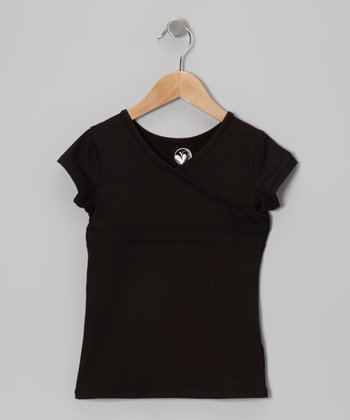 Black Surplice Tee