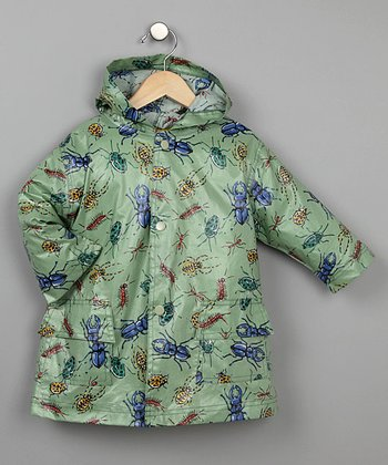 Green Bug Unlined Raincoat - Infant, Toddler & Kids