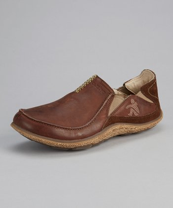 Brown Surf Slipper Drive Shoe - Men