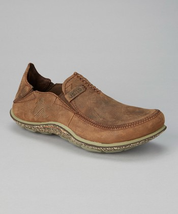 Brown Surf Slipper Delux Shoe - Men