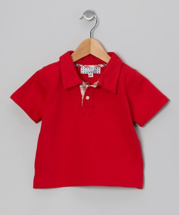 Red Contrast Placket Polo - Infant, Toddler & Boys