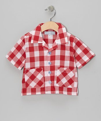 Red Gingham Button-Up - Infant