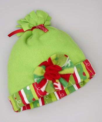 Red & Green Holiday Stripe Beanie