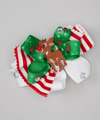 Red & Green Rudolph Clip