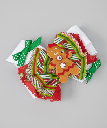 Red & Green Gingerbread Clip