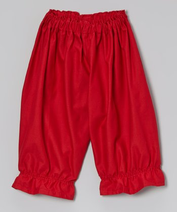 Red Gathered Pants - Infant & Toddler