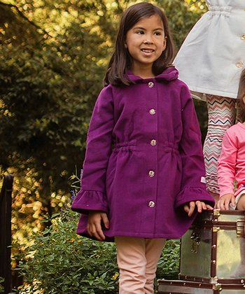 Plum Sunday Rose Coat - Toddler & Girls