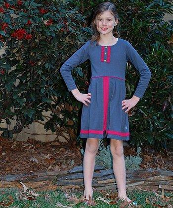 Gray & Red Riding Dress - Toddler & Girls