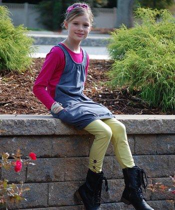 Pink & Gray Layered Bubble Tunic - Toddler & Girls