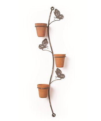 Butterfly Three-Pot Wall Holder