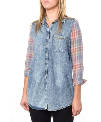 Blue Courtney Denim Button-Up