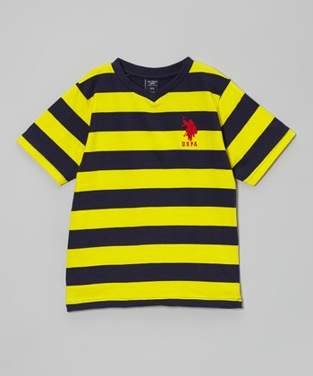 Yellow & Blue Stripe Tee - Toddler & Boys