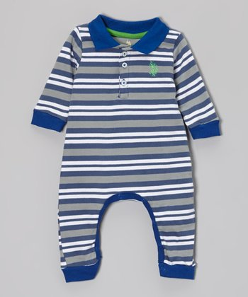 Cobalt Stripe Playsuit - Infant