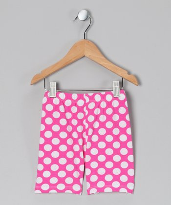 Berry Punch Polka Dot Bike Shorts - Infant