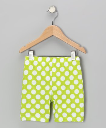Kiwi Punch Polka Dot Bike Shorts - Infant, Toddler & Girls