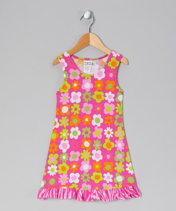 Citrus Fab Floral Fit & Flare Dress - Infant, Toddler & Girls