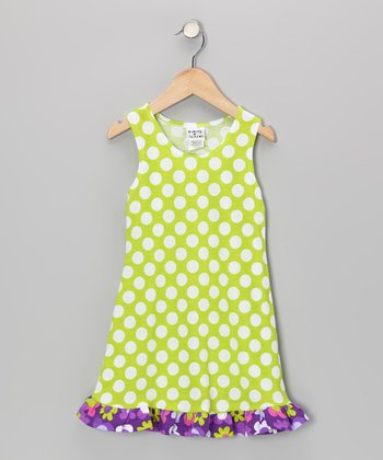 Kiwi Punch Polka Dot Fit & Flare Dress - Infant, Toddler & Girls