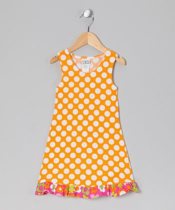 Mango Punch Polka Dot Fit & Flare Dress - Infant & Toddler
