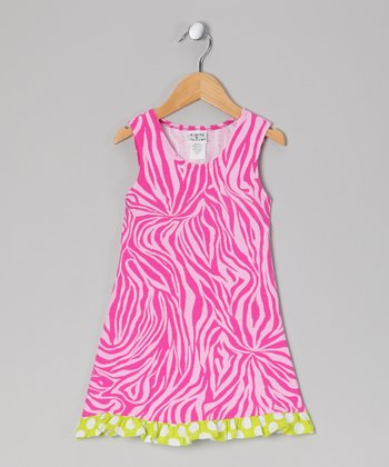 Pink Zebra Fit & Flare Dress - Infant, Toddler & Girls