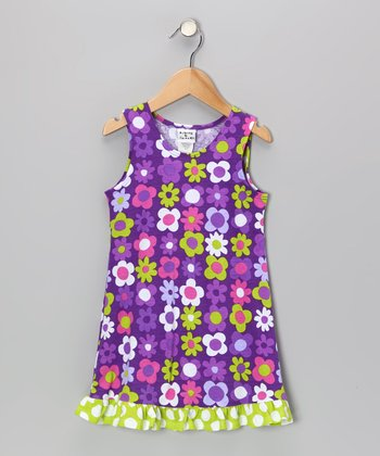 Purple Fab Floral Fit & Flare Dress - Infant, Toddler & Girls