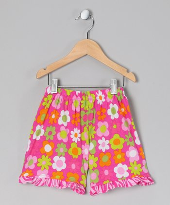 Citrus Fab Floral Ruffle Shorts - Infant & Toddler