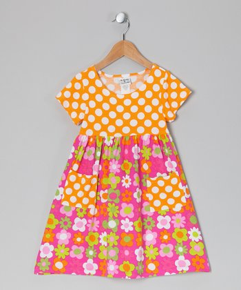 Citrus Fab Floral Pocket Dress - Infant & Toddler