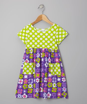 Purple Fab Floral Pocket Dress - Infant, Toddler & Girls