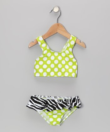 Kiwi Punch Skirted Bikini Sunsuit - Infant, Toddler & Girl