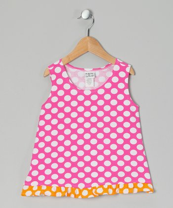Berry Punch Polka Dot Ruffle Tank - Infant, Toddler & Girls