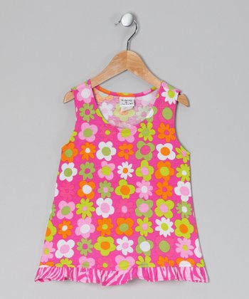 Citrus Fab Floral Ruffle Tank - Infant, Toddler & Girls