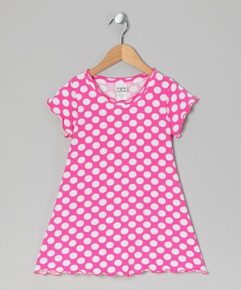 Berry Punch Polka Dot Swing Dress - Infant, Toddler & Girls
