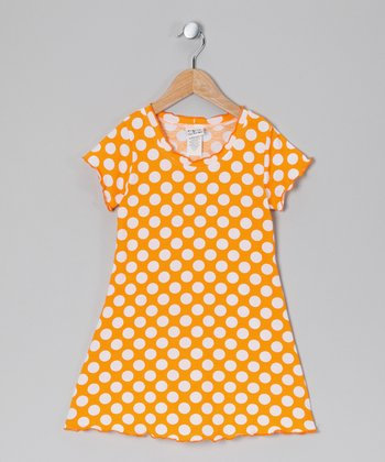 Mango Punch Polka Dot Swing Dress - Infant, Toddler & Girls