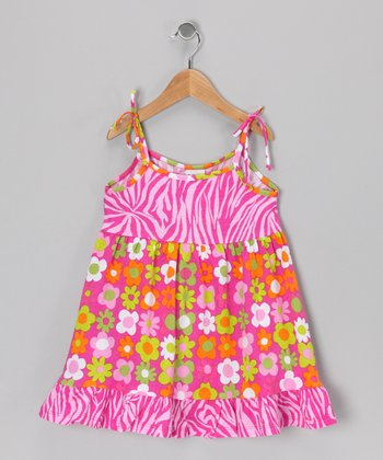 Citrus Fab Floral Ruffle Dress - Infant, Toddler & Girls