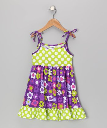 Purple Fab Floral Ruffle Dress - Infant, Toddler & Girls
