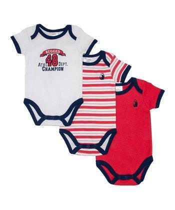 Rugged Bear Red & Blue Bodysuit Set