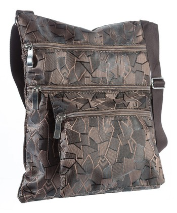 Dark Brown Geometric Crossbody Bag
