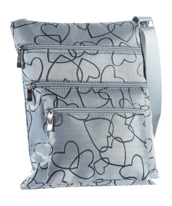 Gray Heart Crossbody Bag