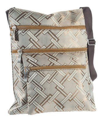 Brown Link Crossbody Bag