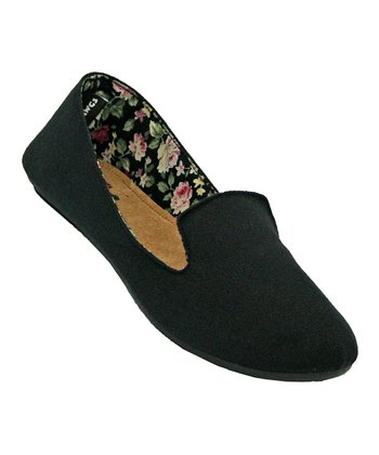 Black & Floral Loafer - Women