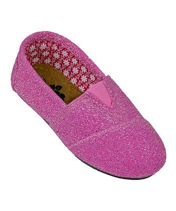 Hot Pink Frost Loafer - Kids