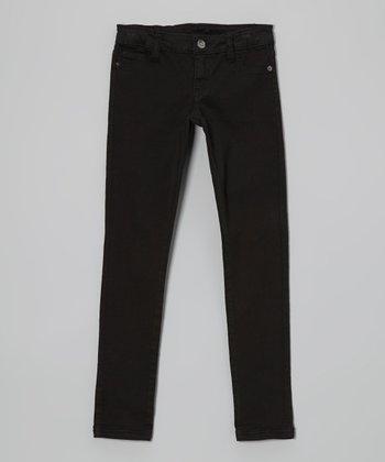 Pink Hearts Black Skinny Jeans