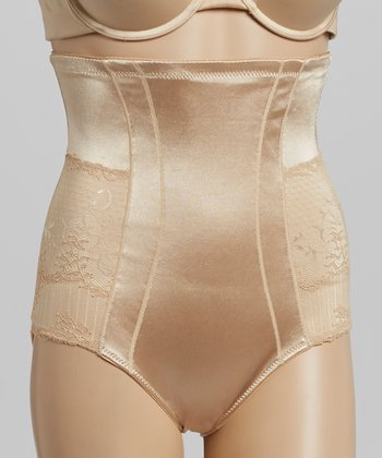 Nude Lace Sexy Control High-Waist Shaper Briefs