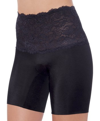 Black Fascination Lace Shaper Shorts - Women