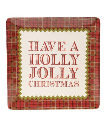 'Jolly Christmas' 14.5'' Square Platter