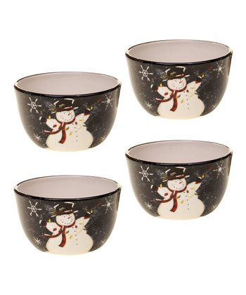 Snowman Ice Cream Bowl - Set of Four