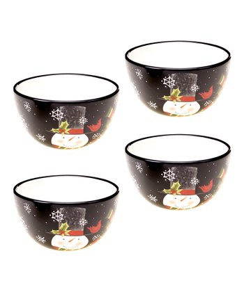 Jolly Snowman Ice Cream Bowl - Set of Four